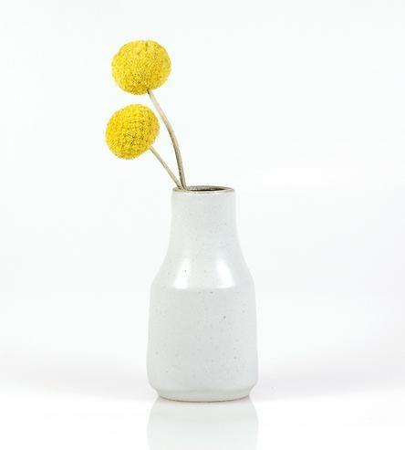 Mini Milk Jug Stoneware Bud Vase by funsize ceramics on Scoutmob Shoppe