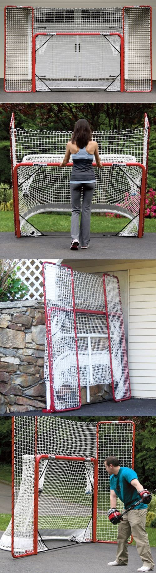 Goals and Nets 165936: Ezgoal Street Hockey Folding Pro Net W Backstop And Targets Red White Practise -> BUY IT NOW ONLY: $173.99 on eBay!