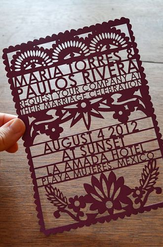 8 Unique Handmade Wedding Invitations from Etsy: Avie.