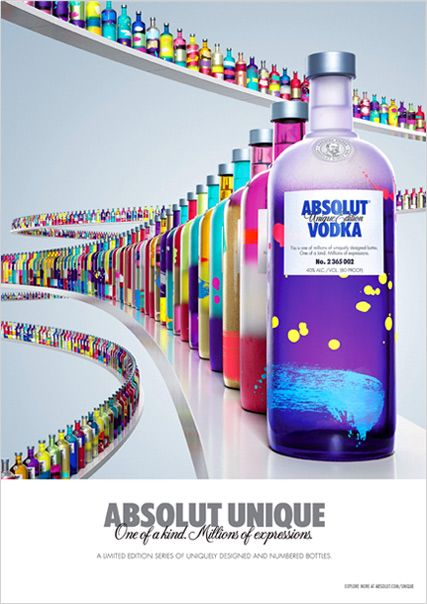 publicité absolut unique