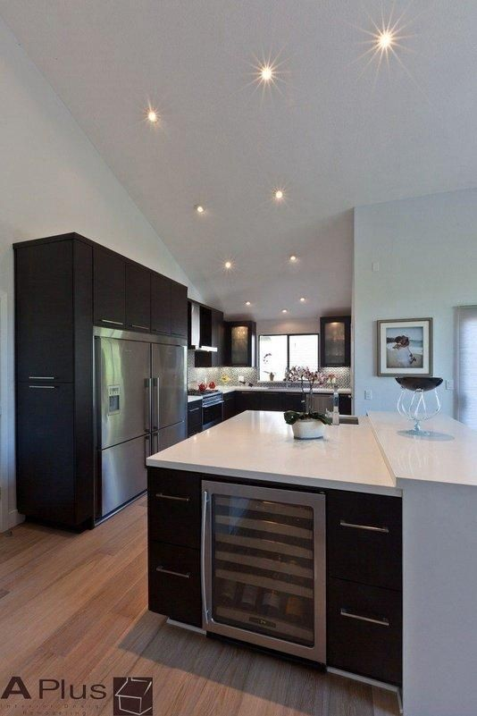 Contemporary kitchen and cabinet remodel