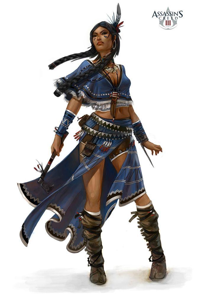 Assassin's Creed III Antoine Rol *Harley female, human, native american, warrior, shadowrun