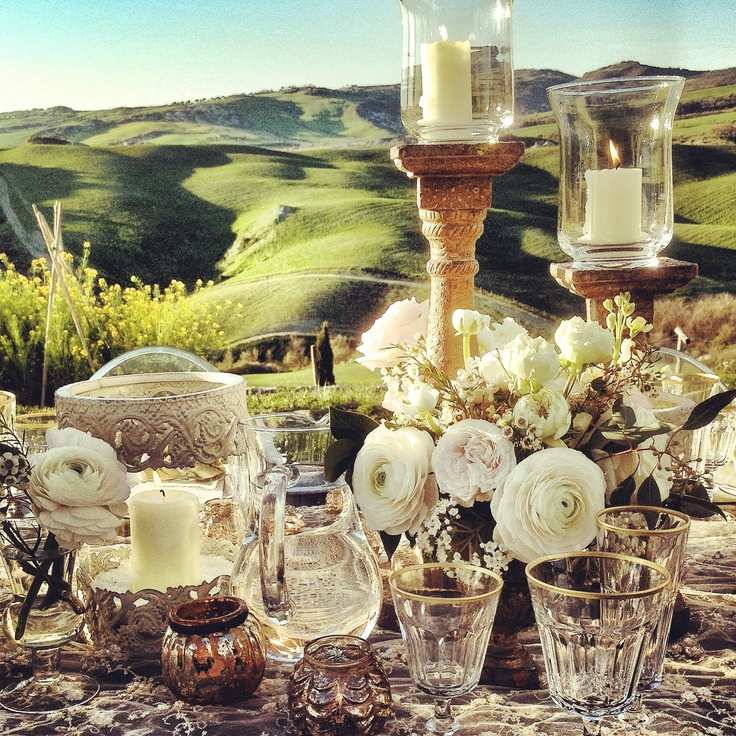 La Rosa Canina FIRENZE #flowerdecor #weddingflowers #weddinginitaly #dinner #pienza