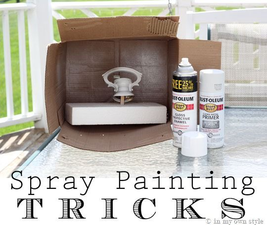 Spray-Painting-Tips-and-TricksCardboard Boxes, Painting Tricks, Painting Job, Spray Painting, Sprays Painting Tips, Tips And Tricks, Diy, Perfect Painting, Crafts