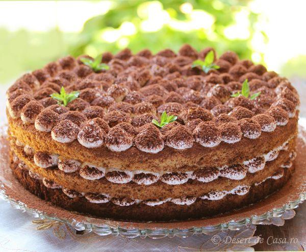 Tort Tiramisu - Desert De Casa - Mara Popa