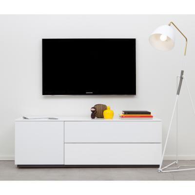 Arctic tv-bänk 1 skåp, 1 flipfront, 1 låda, vit matt i gruppen Möbler / Förvaring / TV-möbler hos RUM21.se (112097)