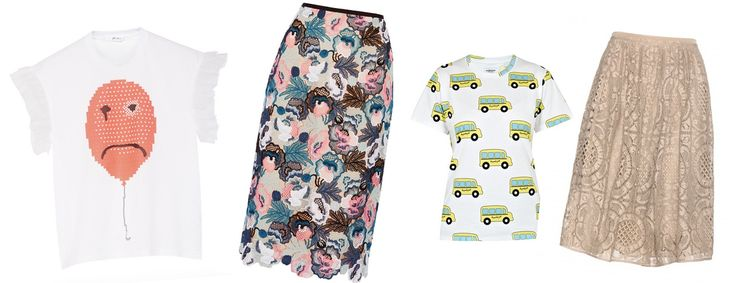 Crea un look t-shirt + gonna! #Givenchy #burberry #AuJourleJour