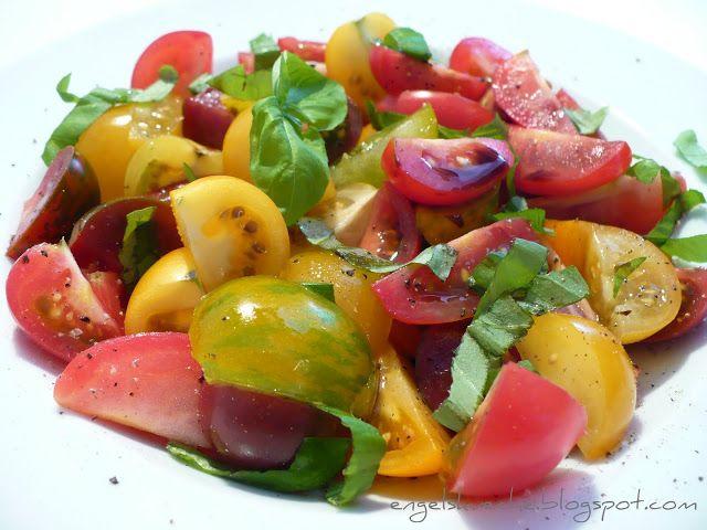 Essen aus Engelchens Küche: Bunter Tomatensalat