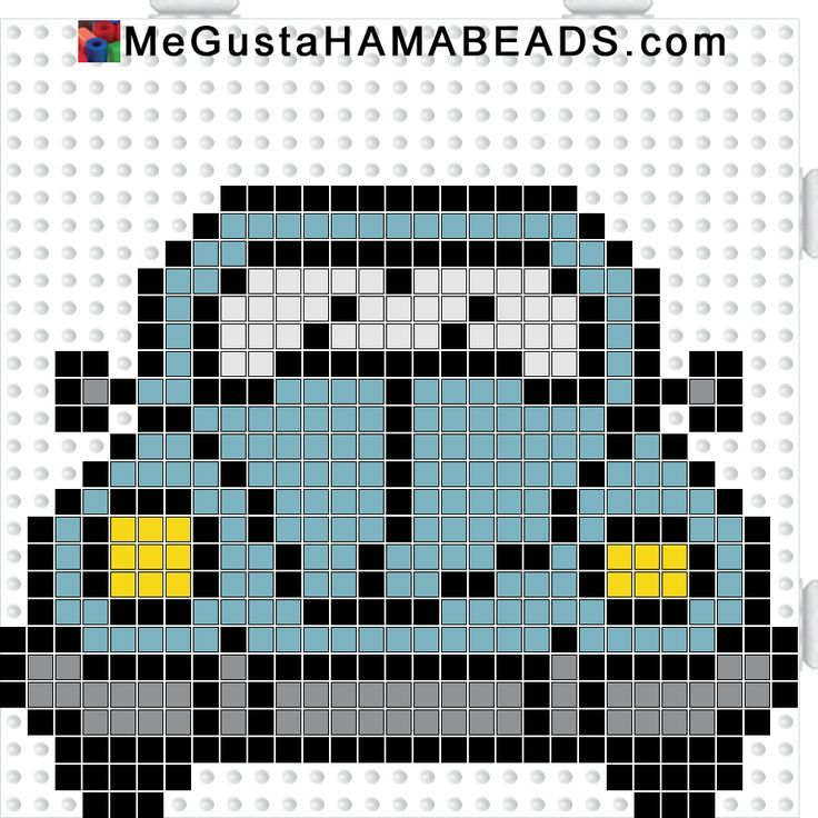 VW Beetle hama perler beads pattern~~ I did this one but I modified the hood so it didn't look like it had been in a wreck...