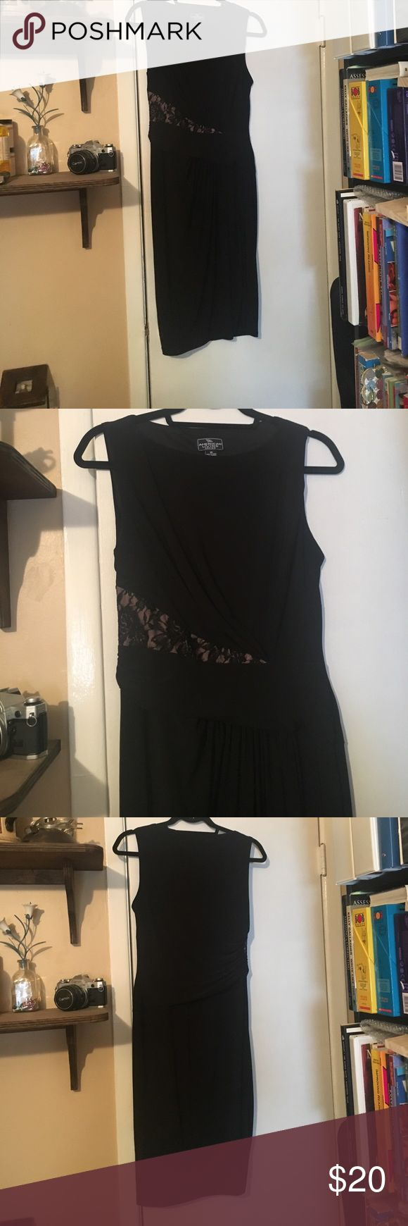 Elegant cocktail dress Below knee. Rose lace detail on side. Ruching accentuates curves, while hiding imperfections. Dresses Midi