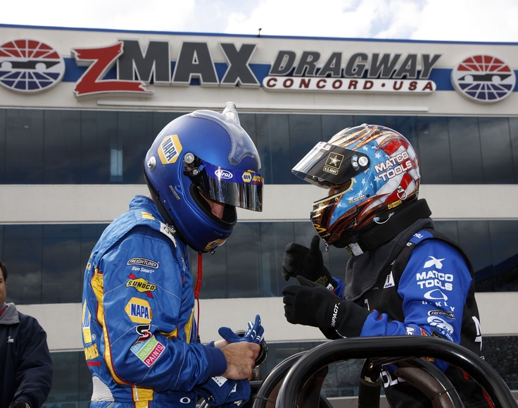 Nascar 39 s martin truex jr and the nhra 39 s antron brown take for Ride along charlotte motor speedway