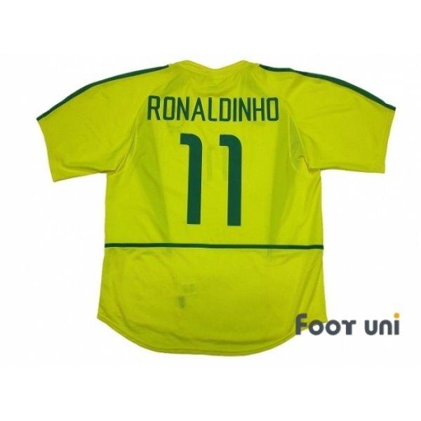 81013cb1ae7 Photo2  Brazil 2002 Home Shirt  11 Ronaldinho Shirt  nike 2002 Korea Japan  FIFA