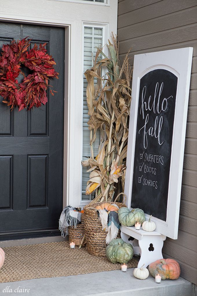 Rustic Fall Porch | Farmhouse charm
