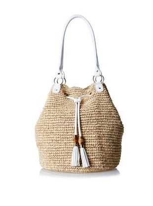 52% OFF Straw Studios Women's Large Bucket Tote, White
