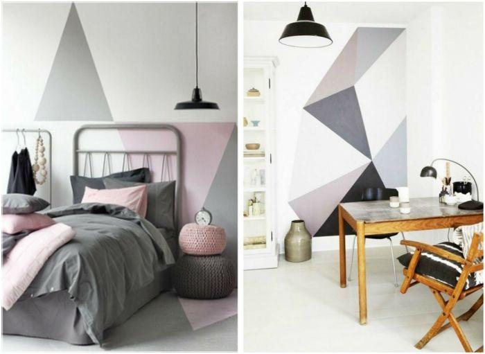 13 kreative Wandgestaltung Ideen, die ganz leicht umzusetzen sind in - ideen fr schlafzimmer streichen