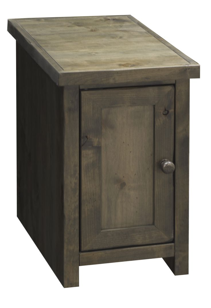chair end table. joshua creek chair side table with door by legends furniture end