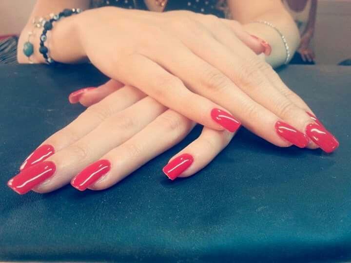 #red#nails#classic#unghie#gel#fixelnailslaboratory