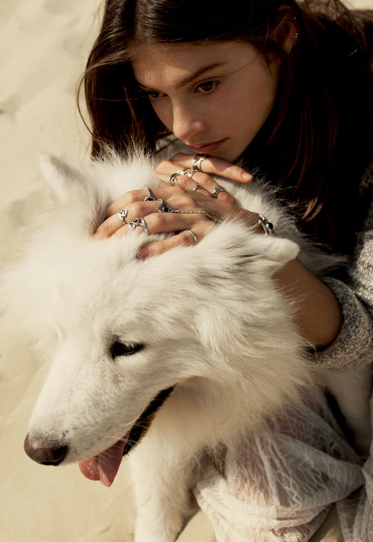 "Series ""A woman and her dog. Spiritual animals."""