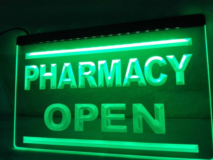 Pharmacy Drug Stores Display OPEN NEW Light Sign home decor Man Cave