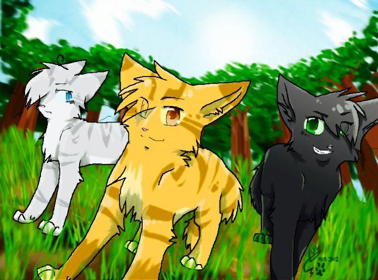 Jayfeather Lionblaze And Hollyleaf Warrior Cats Series