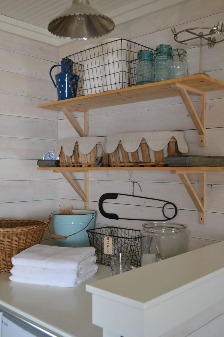 A Sort Of Fairytale: Blogger's Home Tour # 12 - Kara @ McMaster & Storm/Swan and Shears    farmhouse laundry room