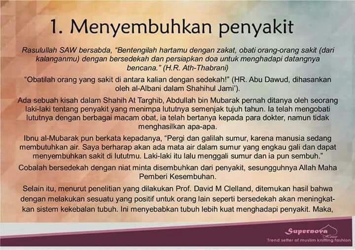 The power of sedekah.....
