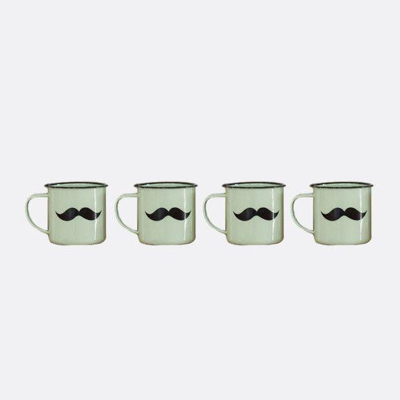 Superbalist Coffee and Tea - Moustache Enamel Mug Set