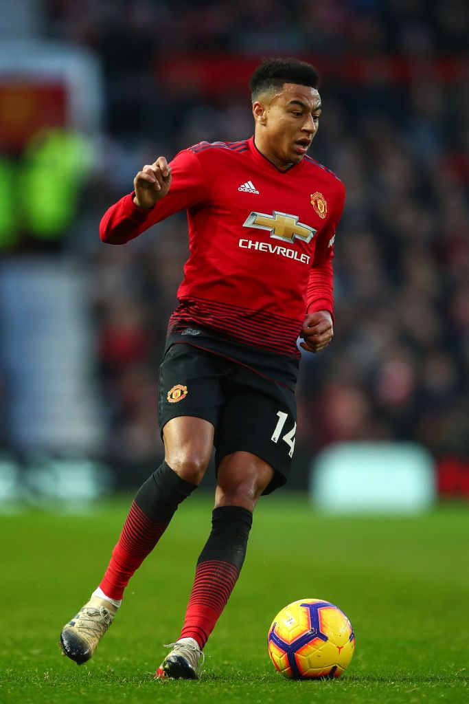 Jesse Lingard Of Manchester United During The Premier League Match