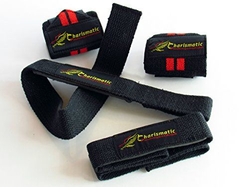 """Charismatic Wrist Wraps + Lifting Straps Bundle (2 Pairs)for Weightlifting, Bodybuilding, Powerlifting, Crossfit, Women & Men , Professional Quality Medium 18"""" x 3"""" Wraps & 24"""" x 1.5"""" Straps http://adjustabledumbbell.info/product/charismatic-wrist-wraps-lifting-straps-bundle-2-pairsfor-weightlifting-bodybuilding-powerlifting-crossfit-women-men-professional-quality-medium-18-x-3-wraps-24-x-1-5-straps/"""