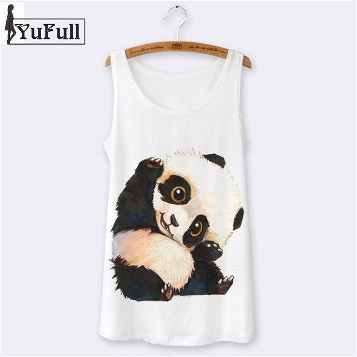 Summer Tops Hipster Sexy Sleeveless Women Tank Top Camisole Sport camis Womens Tanks Cartoon Panda Print o-neck white $27.99   #instastyle #sweet #pretty #shopping #glam #instalike #love #cool #instafashion #stylish #cute #styles #fashion #beauty #iwant