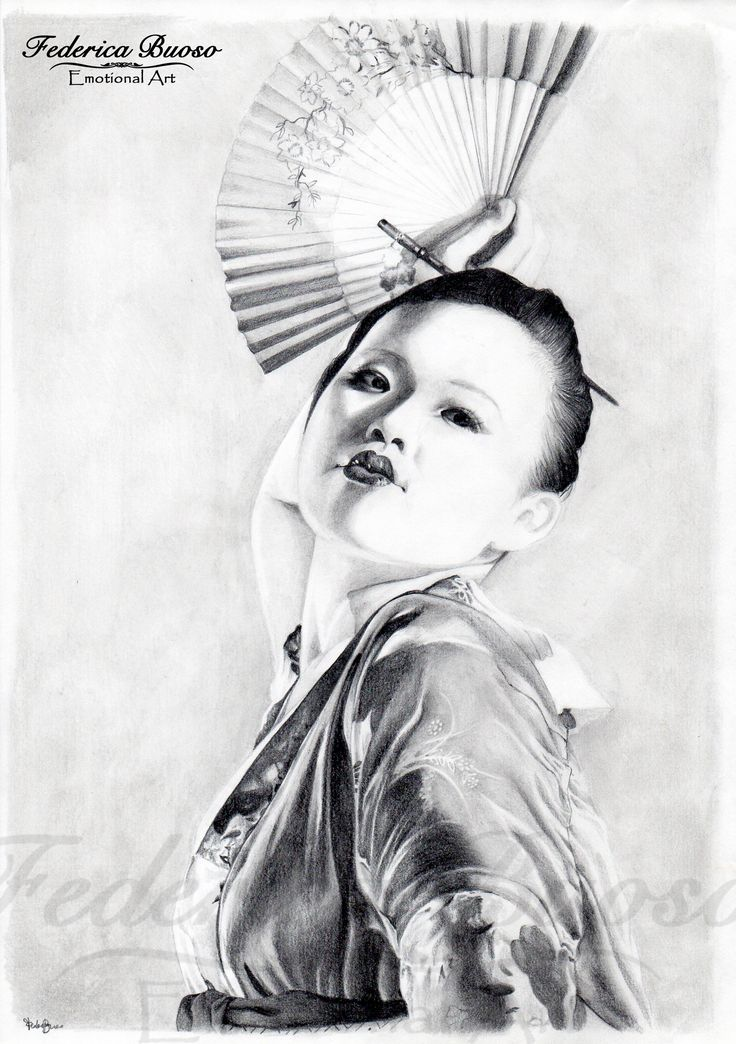 """""""Geisha"""" - Matita su foglio A4"""