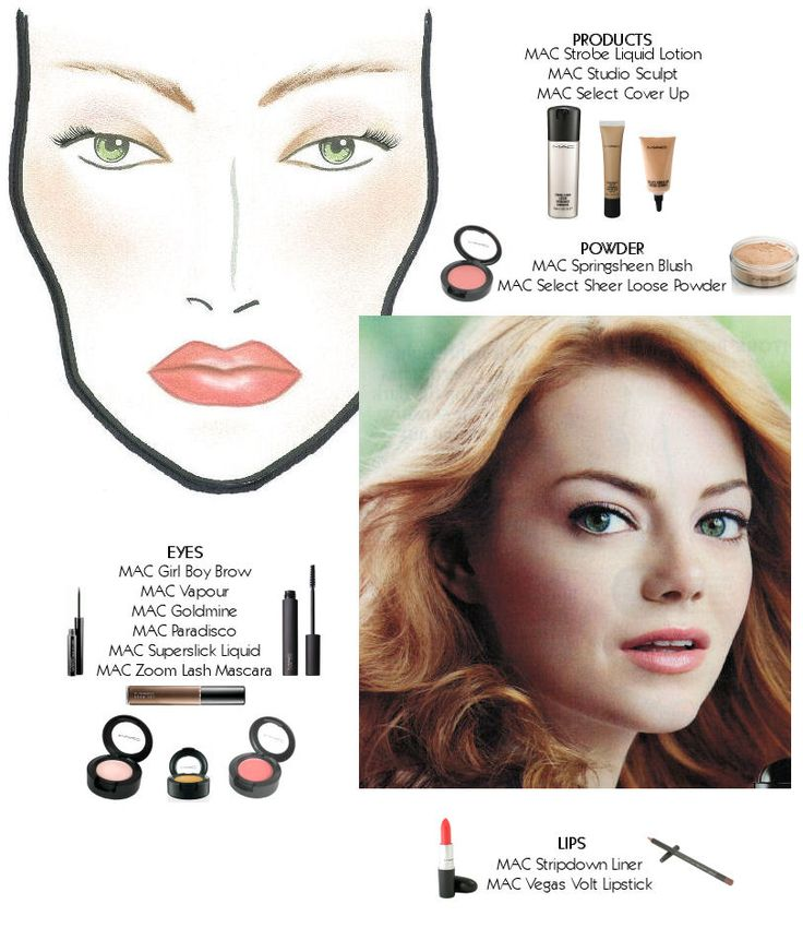 Recreate this #Emma Stone #makeup look at home. www.beautespeciale.com I can barely afford to use the testers at Mac let alone buy an entire makeup looks worth of it