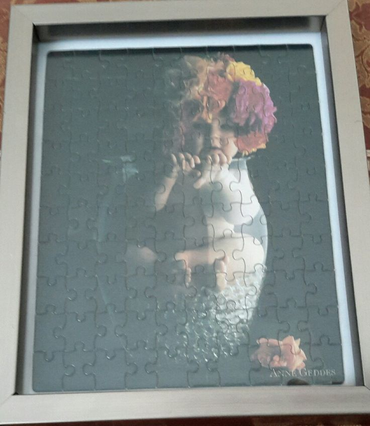 Completed Anne Geddes puzzle 1 of 5