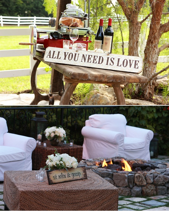 Cocktail Engagement Party Ideas Part - 20: Beautiful Outdoor Engagement Party Inspiration - Wine U0026 Cheese, Cocktails  Around The Fire.