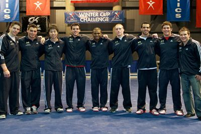 USA Gymnastics announces 2012 Team Hilton HHonors ahead of the London Olympic Games: Alex Naddour from Gilbert AZ is second from the right :)