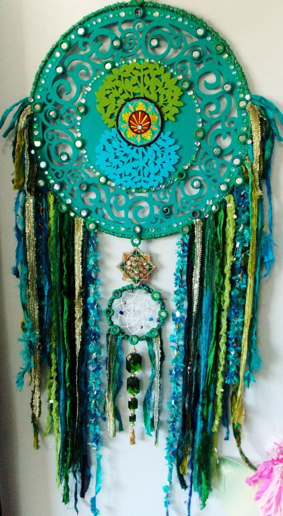 Earth Guardian Mandala Dreamcatcher wall art by RavenshiresRealm