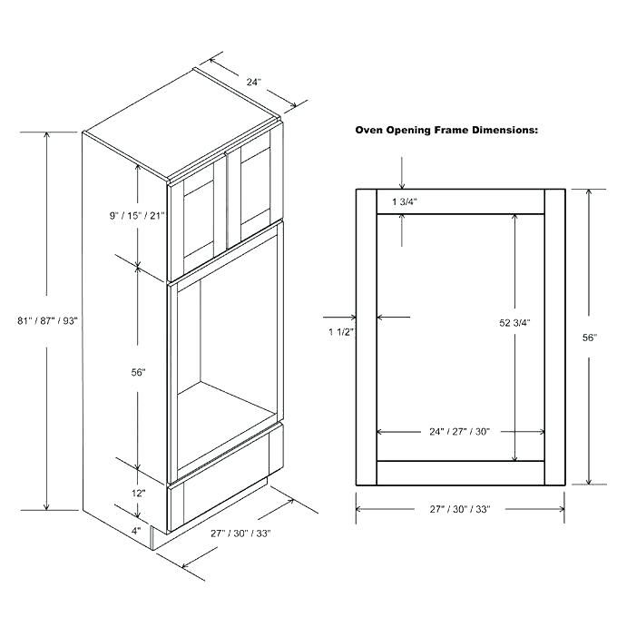 Double Oven Cabinet Specs Oven Cabinet Single Wall Oven Diy Kitchen Cabinets