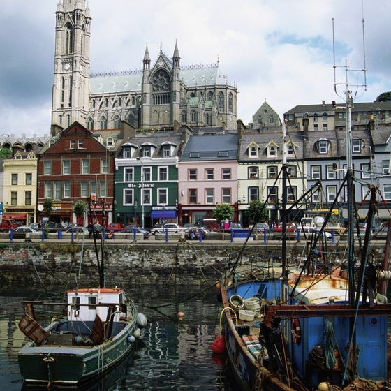 The harbor at Cobh, County Cork, Ireland.
