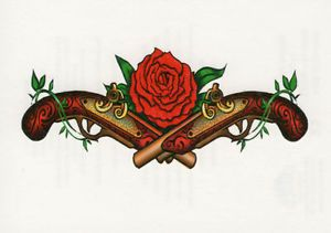 western pistol and rose - Google Search