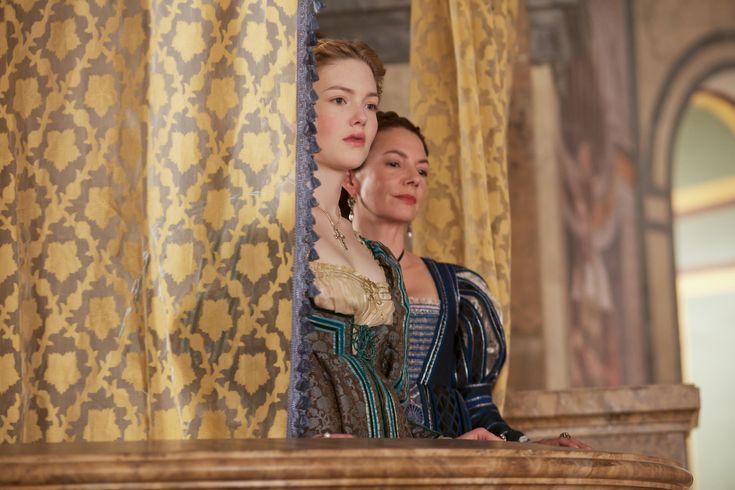 """The Borgias"", TV series, Showtime, 2011-2013. Holliday Granger as Lucrezia Borgia and Joanne Whalley as Vanozza Cattaneo."