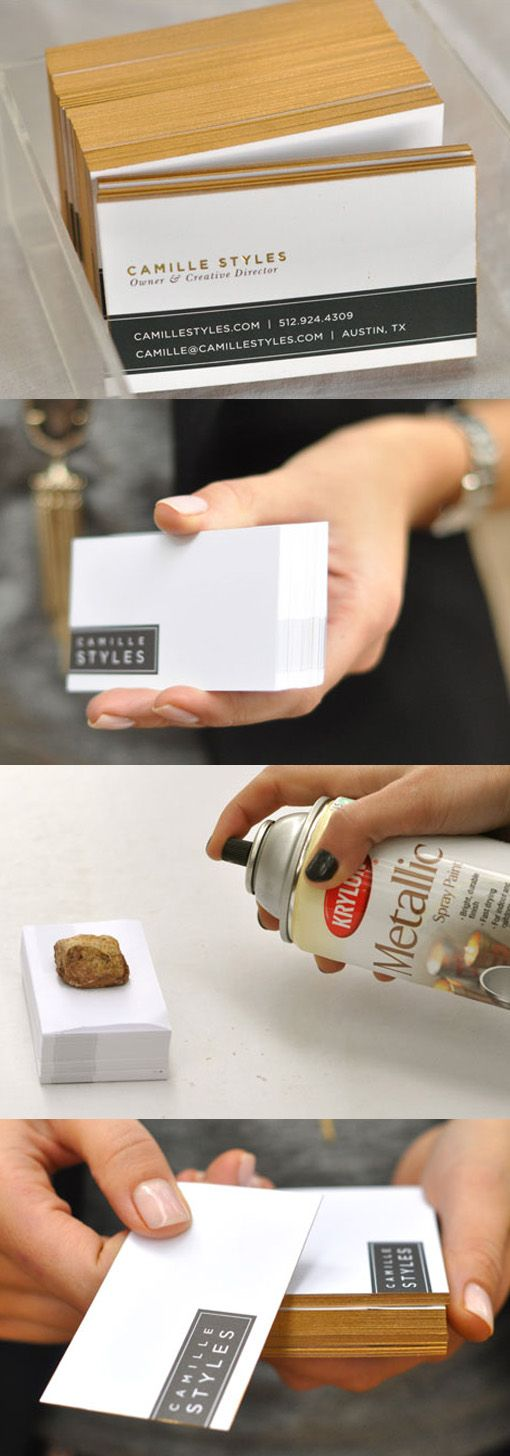 DIY Edge painting business cards
