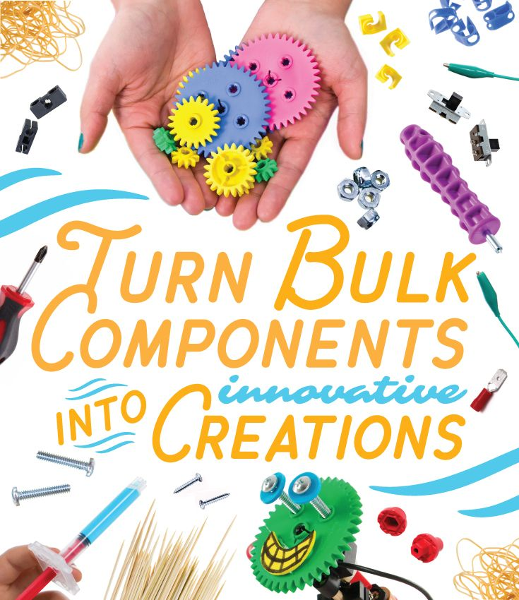 Turn STEM | STEAM | Maker bulk components into innovative, fantastic, inventive creations. Use for Science Fairs, Classrooms, Home Schools, After School Clubs, Scouting, Physics, Maker Spaces, Camps, Science, Engineering, College Courses, Daycares.