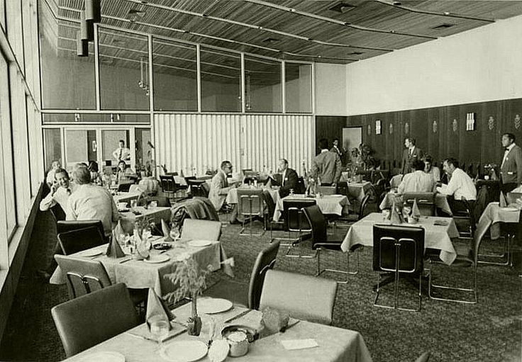 Cape Town airport restaurant - 1970