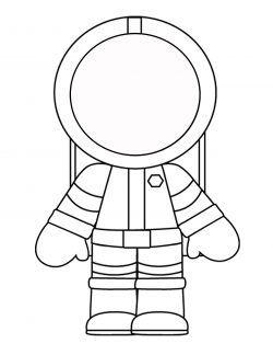 Astronot Boyama Sayfasi Uzay Thème Espace Astronaute Ve