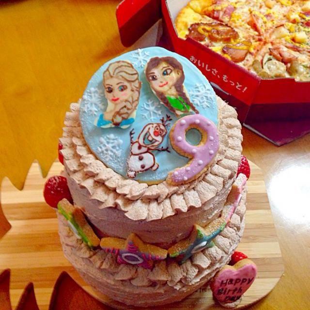 娘の9歳の誕生日に娘の大好きなアナ雪♡ - 54件のもぐもぐ - バースデーケーキ by ciel1225