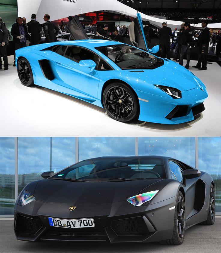 lamborghini aventador gloss sky blue or matte black black rims cars i adore pinterest sky blackest black and blue - Lamborghini Black And Blue