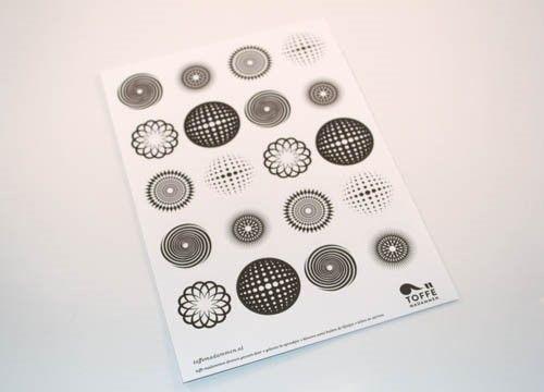Stickervel Toffe Madammen graphic small -