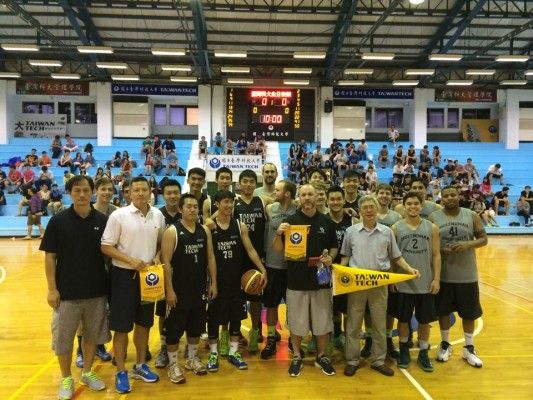 Multnomah Men's basketball team on a missions trip to Taiwan where they facilitated basketball clinics and played games with kids.