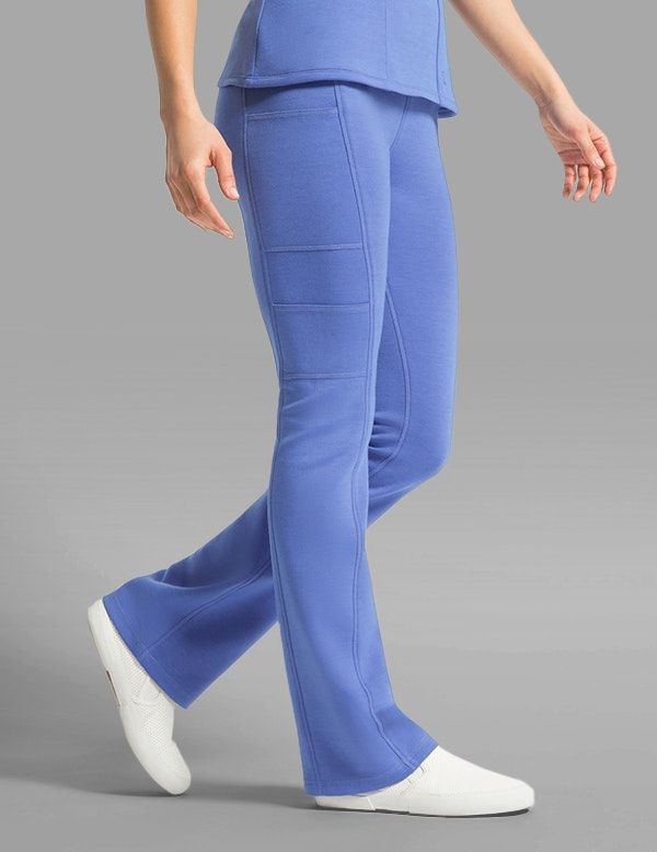 b781d1cf81b Yoga Pant in Ceil Blue is a contemporary addition to women's medical scrub  outfits. Shop Jaanuu for scrubs, lab coats and other medical apparel.
