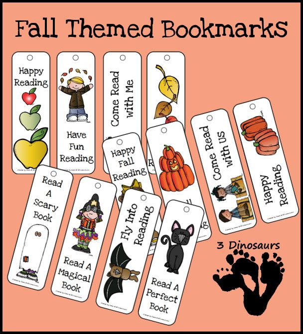 FREE Fall Themed Bookmarks